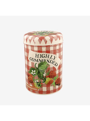 Emma Bridgewater Caddy blik Strawberries Red Check