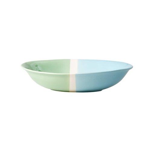 Rice Aardewerk Salade kom in Mint & Pastel Green