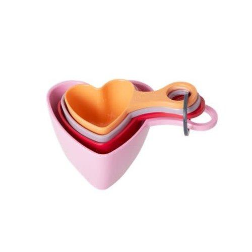 Rice Melamine Maatlepels Heart large set/4