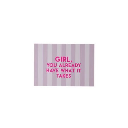 Rice Poster A5 Lavender Stripes GIRL YOU ALREADY HAVE WHAT IT TAKES