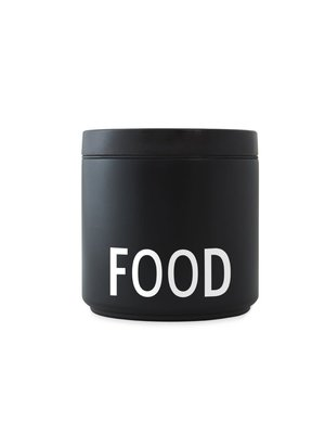 Design Letters Thermos Lunchbox 530ml Zwart Food