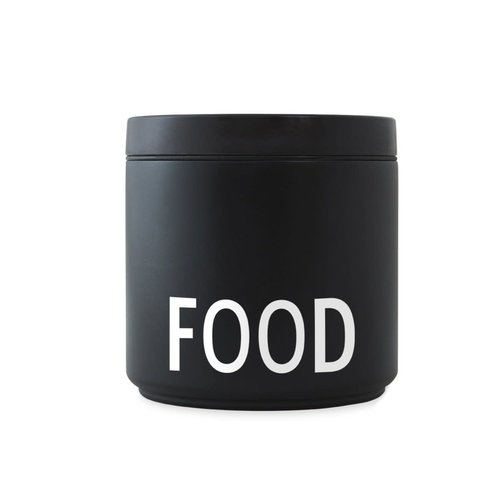 Design Letters Thermos Lunchbox 530ml Food - black