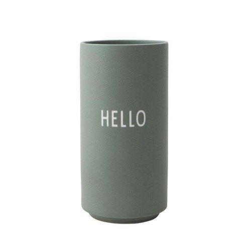 Design Letters Vaas Favourite 11x5,5cm Green Hello