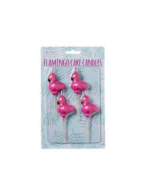 Rice Taart kaarsjes  Flamingo set/4