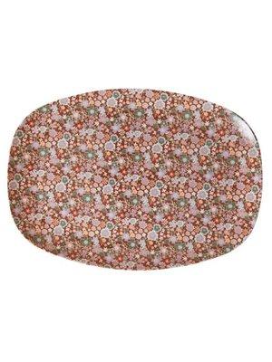 Rice Melamine ovaal bord Fall Floral