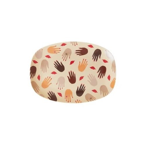 Rice Melamine ovaal bord small Hands and Kisses