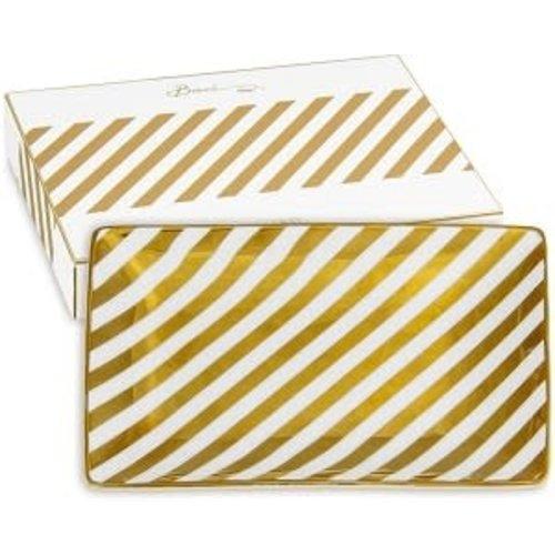 Baci Milano Schaal small Gold Stripes 15,5x10,5cm