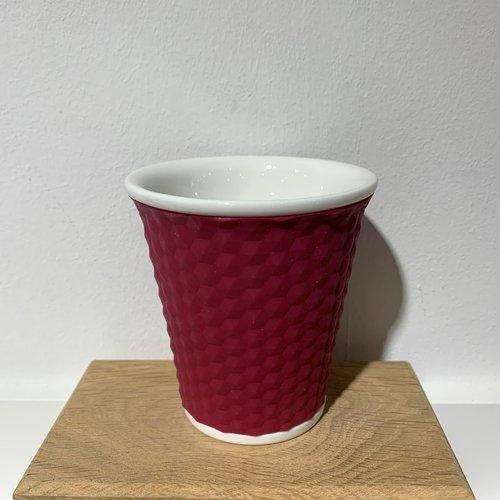 Les Artistes Koffie mok Honeycomb 18cl Aubergine