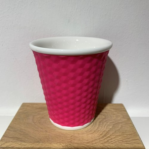 Les Artistes Koffie mok Honeycomb 18cl Pink