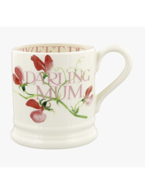 Emma Bridgewater 0.5 pt Mug Sweet Peas - Darling Mum