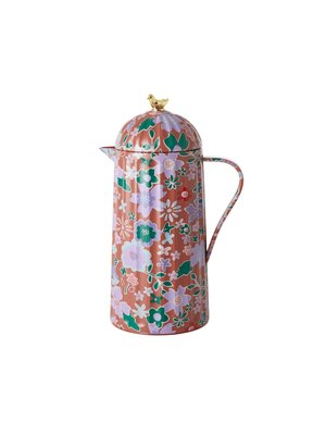 Rice Thermos Fall Floral brown - gold bird