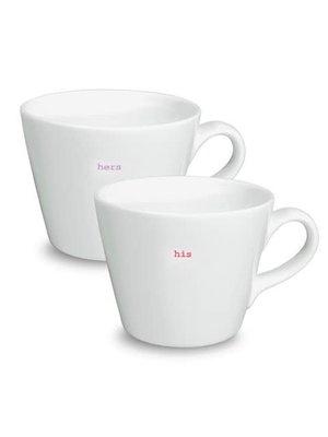 Keith Brymer Jones Bucket Mug set/2 His Hers