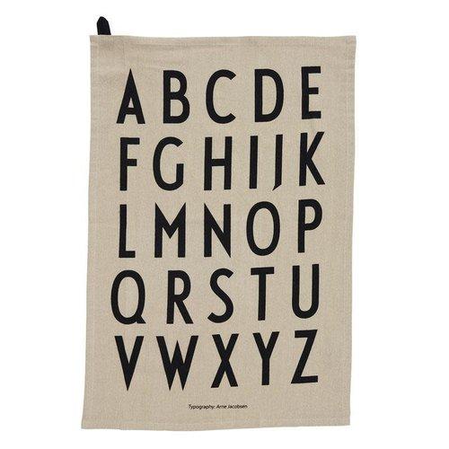 Design Letters Theedoek Classic grey set/2
