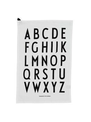 Design Letters Theedoek Classic white set/2