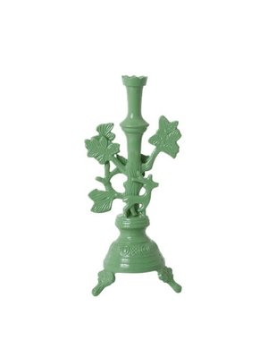 Rice Candlestick metal Deer large Dusty Green
