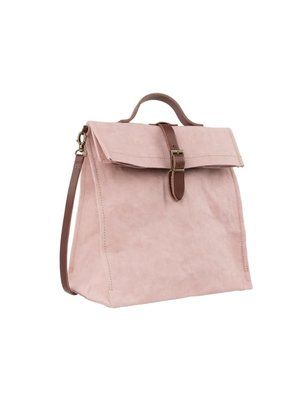 Uashmama Paper Lunchbag w.Handle quarzo rosa