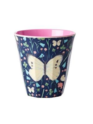 Rice Melamine beker Sweet Butterfly Midnight Blue