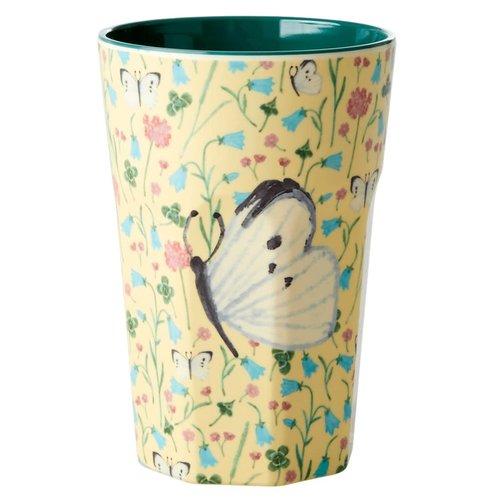 Rice Melamine Tall beker Sweet Butterfly Creme
