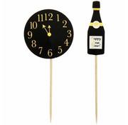 Joni's Winkel Cocktail Prikkers Oud & Nieuw goud 24 stuks