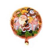 Joni's Winkel Folieballon Kerstman Cartoon rond 45 cm