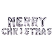 Joni's Winkel Ballonnen set Merry christmas Zilver +/- 40 cm