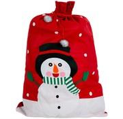 Joni's Winkel Cadeau zak Sneeuwpop 60x90 cm
