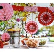 Paper Party Decor set Rood/Roze 9 delig