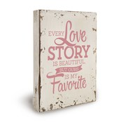 "Miko Houten tekstbord ""Love Story"""