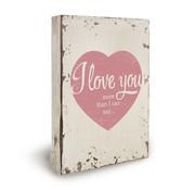"""Miko Houten tekstbord """"I Love You"""""""