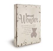 """Miko Houten tekstbord """"Een wonder"""""""