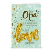 "Miko Love ballon ""Lieve Opa"""