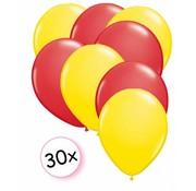 Joni's Winkel Ballonnen Geel & Rood 30 stuks 27 cm