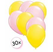 Joni's Winkel Ballonnen Geel & Licht roze 30 stuks 27 cm