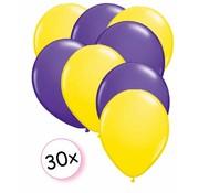 Joni's Winkel Ballonnen Geel & Paars 30 stuks 27 cm