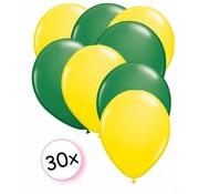 Joni's Winkel Ballonnen Geel & Groen 30 stuks 27 cm