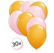Joni's Winkel Ballonnen Oranje & licht roze 30 stuks 27 cm