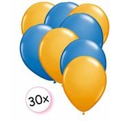 Joni's Winkel Ballonnen Oranje & Blauw 30 stuks 27 cm