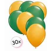 Joni's Winkel Ballonnen Oranje & Groen 30 stuks 27 cm
