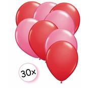 Joni's Winkel Ballonnen Rood & Roze 30 stuks 27 cm