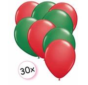 Joni's Winkel Ballonnen Rood & Groen 30 stuks 27 cm