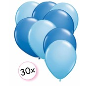 Joni's Winkel Ballonnen Licht blauw & Blauw 30 stuks 27 cm