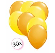 Joni's Winkel Ballonnen Oranje & Geel 30 stuks 27 cm