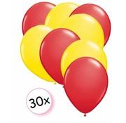 Joni's Winkel Ballonnen Rood & Geel 30 stuks 27 cm