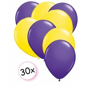 Joni's Winkel Ballonnen Paars & Geel 30 stuks 27 cm
