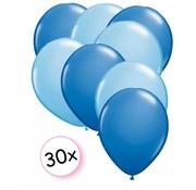Joni's Winkel Ballonnen Blauw & Licht Blauw 30 stuks 27 cm