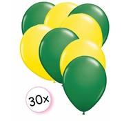 Joni's Winkel Ballonnen Groen & Geel 30 stuks 27 cm