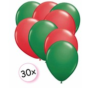 Joni's Winkel Ballonnen Groen & Rood 30 stuks 27 cm