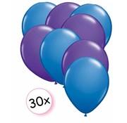 Joni's Winkel Ballonnen Blauw & Paars 30 stuks 27 cm