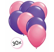 Joni's Winkel Ballonnen Roze & Paars 30 stuks 27 cm