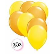 Joni's Winkel Ballonnen Geel & Oranje 30 stuks 27 cm